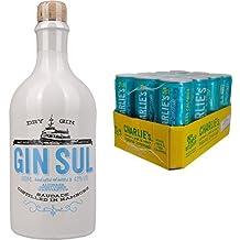 Gin Sul (1 x 0.5 l) mit Charlie's Lemon Lime & Mint, 12er Pack (12 x 330 ml)