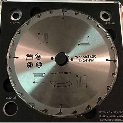 Coffret 3cuchillas 235mm carburo 24–34–60dientes–sierra circular