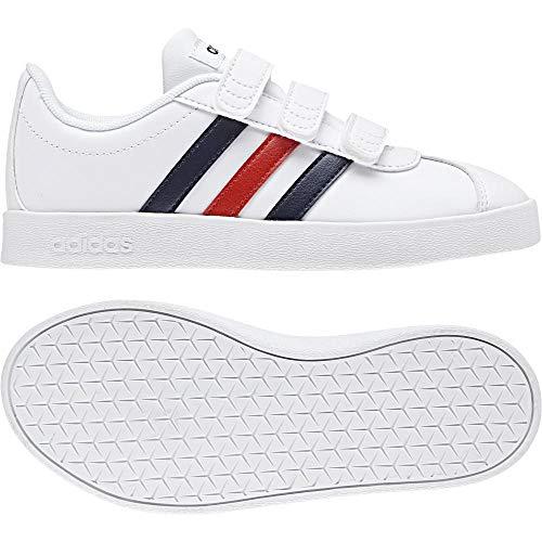 on sale 42ff5 9dacf Adidas VL Court 2.0 CMF C, Zapatillas de Deporte Unisex niño, (Blanco 000