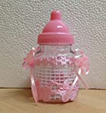 Subito disponibile STOCK 20 PEZZI Biberon con ciuccio rosa Portaconfetti porta confetti Bomobniera nascita Bambina