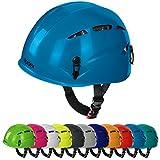 Universal Kletterhelm ARGALI Klettersteighelm in vielen modernen Farben von Alpidex, Farbe:turquoise blue