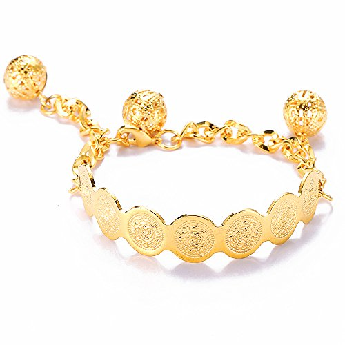 Jiecikou Personalized Mens Bracelet Allah Muslim Gold Plated ...