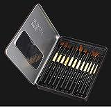 Whengx Artist Paint Brush Geschenkset, 12 Verschiedene Formen und Größen Detail Paint Brushes Geschenkset. Professionelle Acryl Öl Aquarelle Künstler Malerei Geschenk-Set