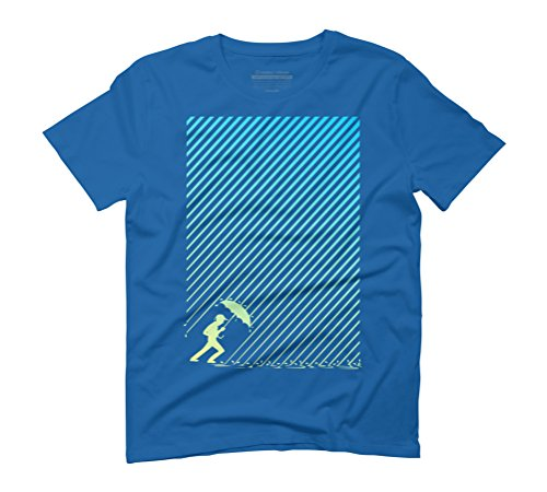 hard rain Men's Graphic T-Shirt - Design By Humans Royal Blue