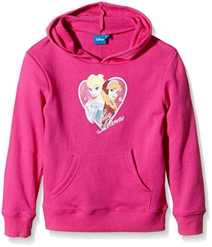 Disney Frozen - Die Eiskönigin Kollektion 2015 Sweatshirt Hoodie Kapuzenpullover mit Elsa und Anna ,Blau oder Fuchsia (128, ()
