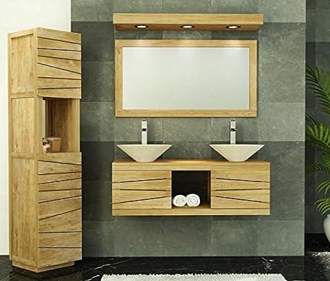Walk - CA-440-120-NAT - Meuble de salle de bain brehat l120 en teck