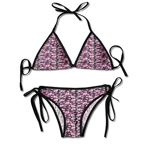 Removable Strap Wrap Bikini,by Spring Nature Pink Sexy Bikini 2 Pieces -
