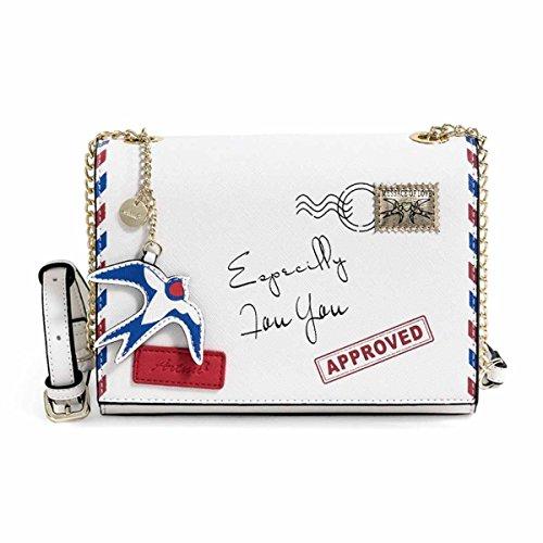 Women's Bag Messenger Bag Damen Tasche Kleine Quadratische Tasche Schultertasche,White White