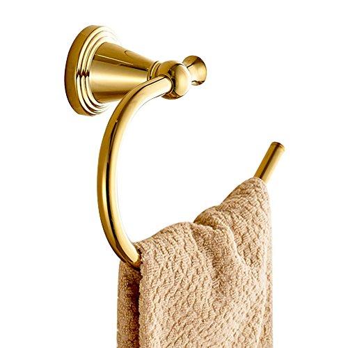 CASEWIND Küche Handtuchring Handtuchhalter, Messing Konstruktion Offen Design Bad Badezimmer Bohren Europäisch Opulent Luxus Stil Poliert Gold finished -