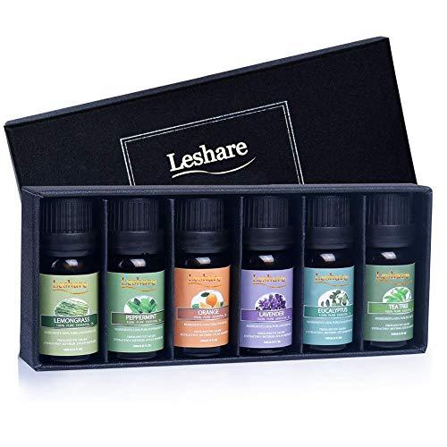 Lagunamoon Aceites Esenciales, Top 6 Set de Regalo de Aceites de Aromaterapia de Lavanda Eucalipto Hierba...