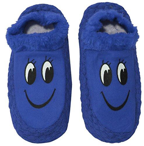 Neska Moda Premium Women's Cotton Blue 1 Pair Indoor Slippers