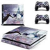 Playstation 4 + 2 Controller Aufkleber Schutzfolie Set - Assassins Creed Unity /PS4