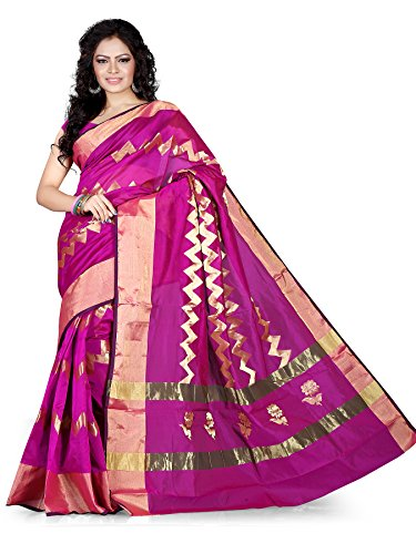 Asavari Blended Saree (Srj15-Bij-Mag_Magenta)  available at amazon for Rs.999