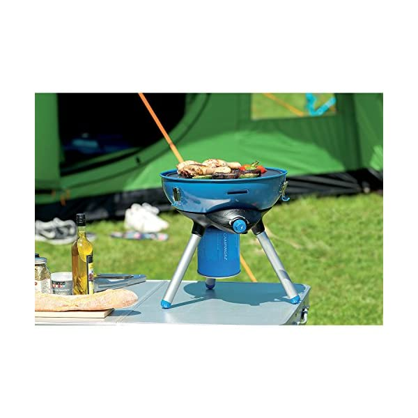 Campingaz Party Grill 400 Camping Stove, All in One portable Camping BBQ, Outdoor Grill & Stove, Small Gas Barbecue 2.000 Watt, Runs on CV 470 Plus Gas Cartridge 6