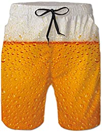 Loveternal Hombre Pantalones Cortos de Playa Secado Rápido Bañador Estampado ...