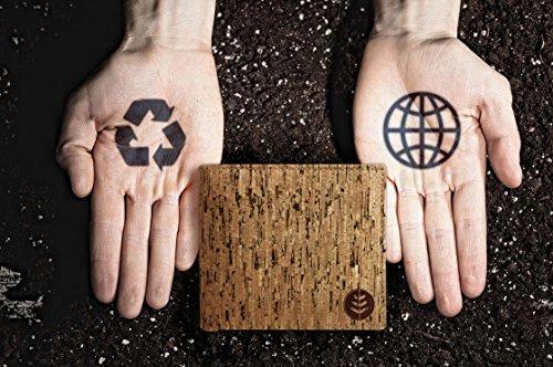 Lederfreie Geldbörse mit RFID-Schutz - klassisches & Vintage Design für Herren - aus natürlichem Kork hergestellt - stylishes Portemonnaie mit Kartenfächern & Geldscheinfach - vegan & umweltfreundlich - 3
