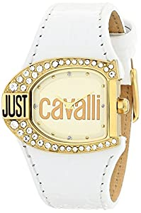 Reloj de mujer Just Cavalli Just time R7251160575 de cuarzo, correa de piel color blanco de Just Cavalli