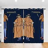 HONGYANW - Tende oscuranti Personalizzate, per Finestra, Cappotto Bojack Horseman con Occhielli, Termiche, per Camera da Letto, Soggiorno, 132 x 183 cm, 2 Pannelli