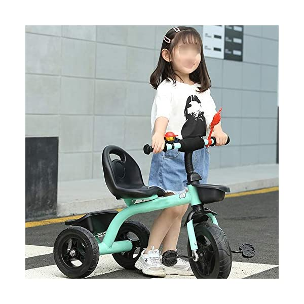 LRHD Children's Tricycle, Children's Tricycle, Stroller, Tricycle, Tricycle Pedal Bicycle, Boys and Girls Aged 2-3-4-5 Years Old, Indoor and Outdoor, with Storage Boxes, Boys and Girls Riding Toys LRHD 1. [Perfect Growth Partner]: Tricycle is suitable for children aged 2-6. Let this tricycle grow up with your children. 2. [Adjustable Seat]: The tricycle seat can be adjusted in front and rear gears, so the baby does not need to change cars when growing up, and it is suitable for children of different height stages. 3. [Humanized Design] These cleverly designed tricycles and tricycles have many features your children will like! With one basket at the front and one basket at the back, your children can take their favorite toys along the way! 7
