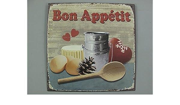 Gastronomie Wandschild 30x30 G3513 Bon Appetit Nostalgie Blechschild