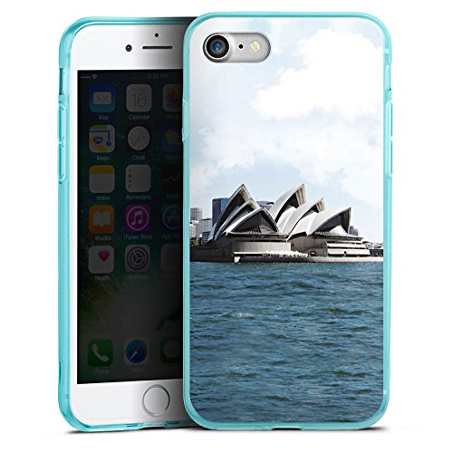 Apple iPhone 8 Silikon Hülle Case Schutzhülle Sydney Australien Opera House Silikon Colour Case eisblau