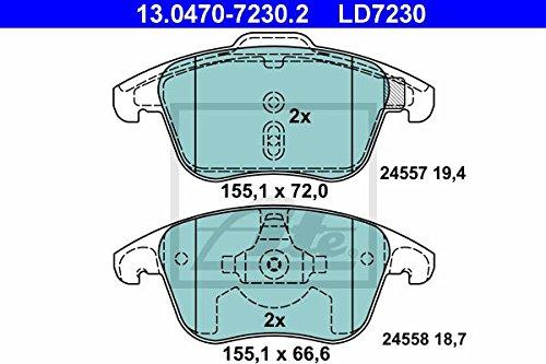 Preisvergleich Produktbild ATE 13.0470-7230.2 Bremsbelagsatz,  Scheibenbremse