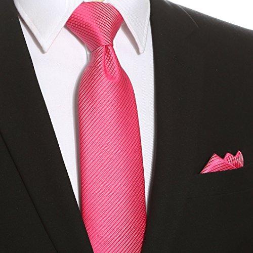 Kissties - Boite à cravate - Rayures - Homme Fuchsia