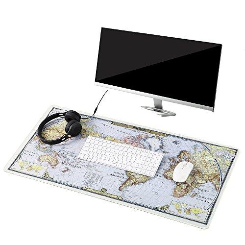 Preisvergleich Produktbild Befitery Gaming Mauspad XXL Rutschfeste Schreibtischunterlage Mausunterlage für Computer PC Laptop 900 x 400 x 2 mm (Weltkarte-2)