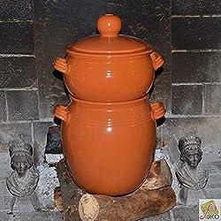 Couscoussier de cuisson en terre cuite - Très grand modèle