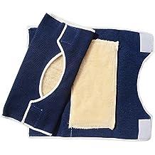 BXT 1par invierno térmica cabra Estabilizador de rodilla calentador calentador de lana acolchado para la rodilla rodillera elástica rodilla banda funda para adultos para hombre