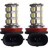 TOOGOO (R)2pz AUTO LAMPADE LUCI H11 27 LED SMD CHIPS BIANCO 240LM