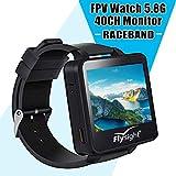Flysight 5.8Ghz Horloge FPV Racing Band 40 Canal Récepteur Moniteur Écran Mini...