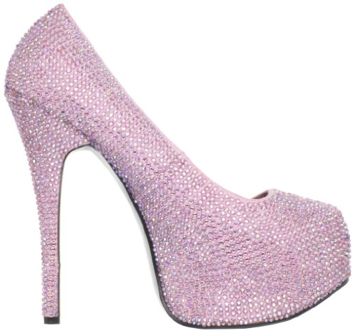 Pleaser Teeze-06R, Damen Pumps B. Pink Satin-Irid RS
