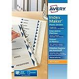Avery España 05112081 - Separadores personalizables con etiquetas transparentes, 6 pestañas, 210 x 297 x 6 mm, color blanco