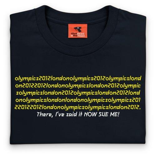 Sue Me T-Shirt, Herren Schwarz