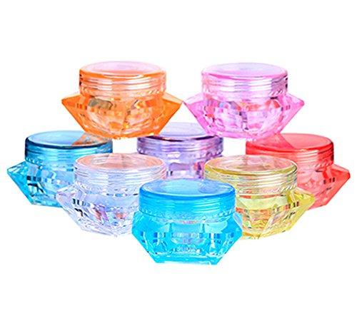 50 PCS 5 ml vide en plastique cosmétique contenant avec bouchon à vis carrée maquillage pot Jar visage crème baume à lèvres fard à paupières de stockage