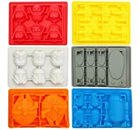 Silicone Ice Cube Mold , easy clean and BPA FREE, Top quality silicone ice tray, Ice Marker, Food Grade Silicone iCE Marker, Darth Vader/Stormtrooper/Millenium Falcon/X-Wing Fighter/1 Han Solo Carbiner/R2-D2