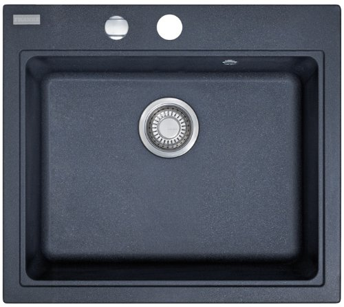Preisvergleich Produktbild Franke Maris MRG 610-58 Graphit Granit-Spüle Dunkelgrau Küchenspüle Auflagespüle