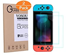 Nintendo Switch Screen Protector YOSOU [2 Pack] Nintendo Switch Tempered Glass Screen Protector 0.3mm Premium HD Clear Anti-Scratch for Nintendo Switch 6.2 Inch Tablet Screen