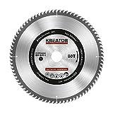 KRT020426 HSS Hartmetall Kreissägeblatt für Holz Ø250mm Bohrung 30mm Dicke 3mm Zähne 80 Holzsägeblatt + 3 Reduzierringe