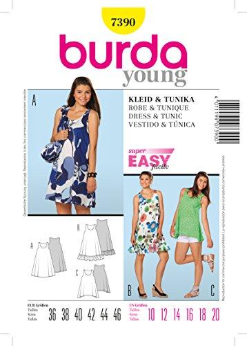 Burda Schnittmuster 7390 Kleid & Tunika Gr. 36-46 – rubox.de