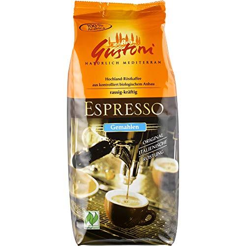 Gustoni Bio Espresso, gemahlen (6 x 250 gr)