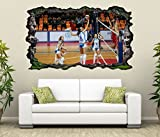 3D Wandtattoo Volleyball Spiel Frauen Turnier selbstklebend Wandbild Tattoo Wohnzimmer Wand Aufkleber 11L2066, Wandbild Größe F:ca. 162cmx97cm