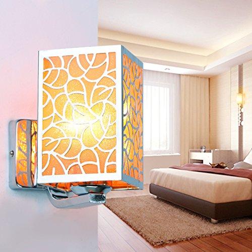 Blau-matt-wandleuchte (FAYM-Elegante Mode Studie einfache Wand Lampe Nachttischlampe Schlafzimmer, moderne Wandleuchte Schirm matt Wandleuchte , blau)