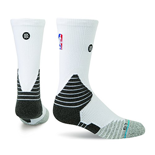 Calze Stance NBA Solid Crew colore Bianco Bianco, 4) L