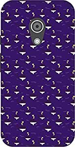 The Racoon Lean printed designer hard back mobile phone case cover for Moto G 2nd Gen. (Violet Wha)
