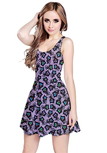 CowCow - Robe - Femme Colorful Woodland Purple Cats