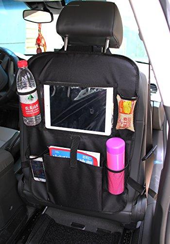 W top 2 PCS Organizadores para Asientos de coches con Multi bolsillo asiento trasero Cubiertas para coches con sostenedor de tablet bolsillo de pantalla táctil protector trasero del asiento de coche