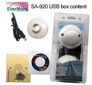 SA-920 20 Kanal USB GPS Empfänger SIRF 3 Chip. Satelliten Empfänger für Marine Boot Yacht: SA920 von Evermore für den Anschluß an PC Bordcomputer Laptop Desktop NMEA 0183 geeignet für Windows 10 8 7 Vista XP 98 Apple Mac OS Linux über USB -159dBm