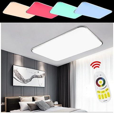 Hengda® LED Wohnzimmer Deckenleuchte 90W RGB Esszimmer Lichtfarbe und Helligkeit